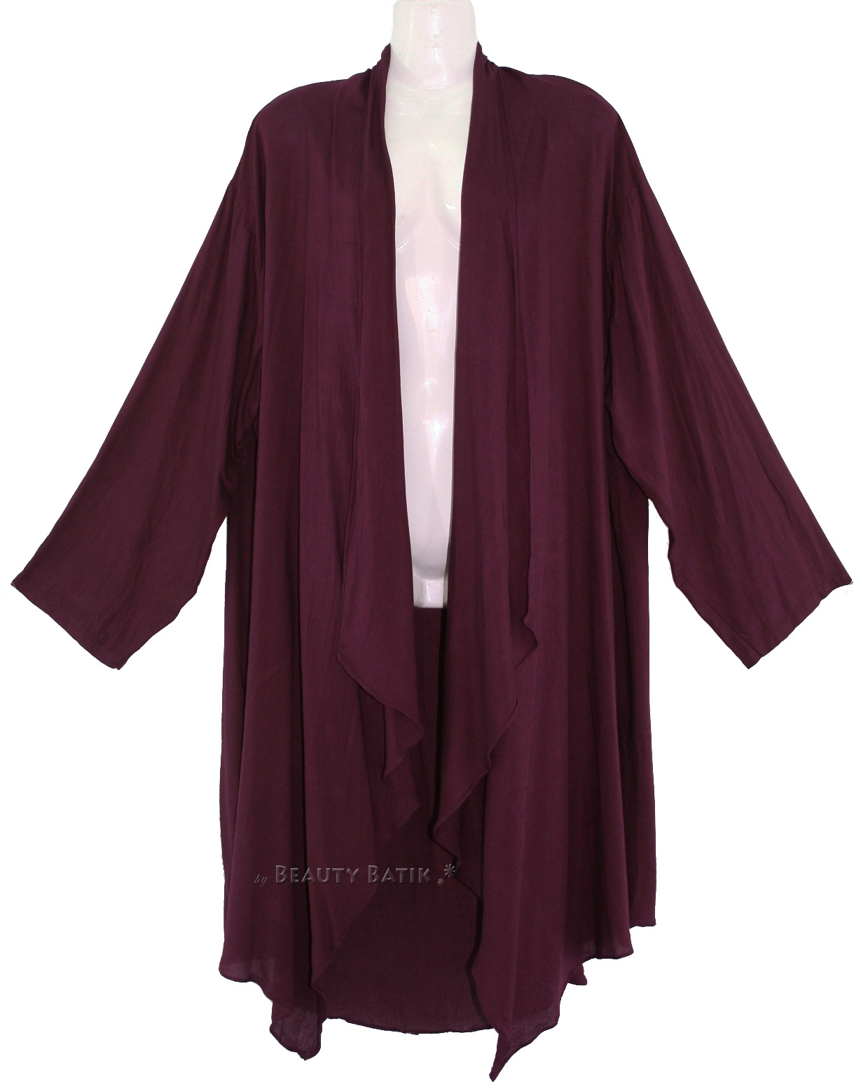 women lagenlook duster plus size long coverup jacket 1x 2x 18 20 ebay. Black Bedroom Furniture Sets. Home Design Ideas