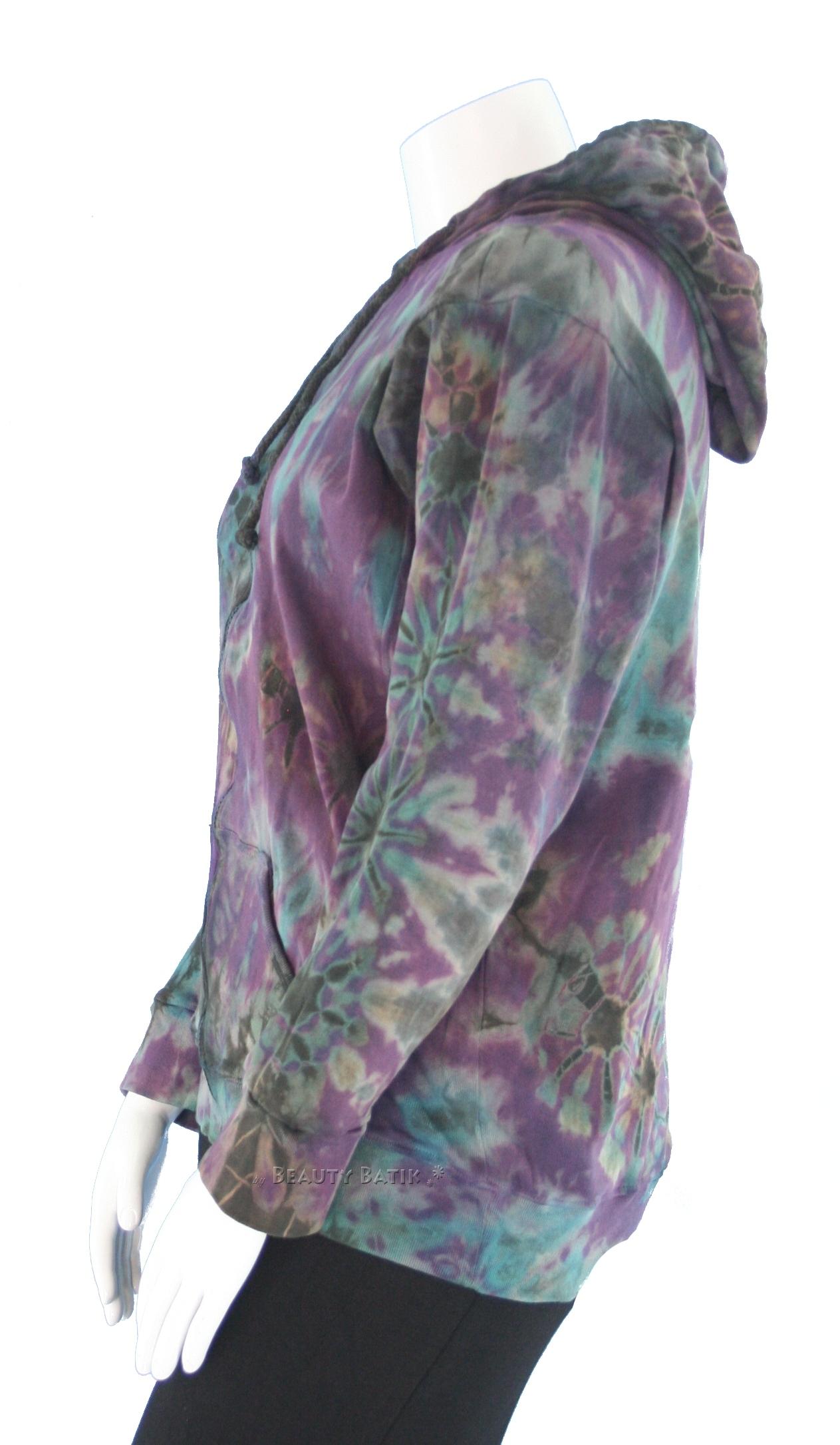 new boho hippie tie dye hoodie jacket sz m 8 10 ebay