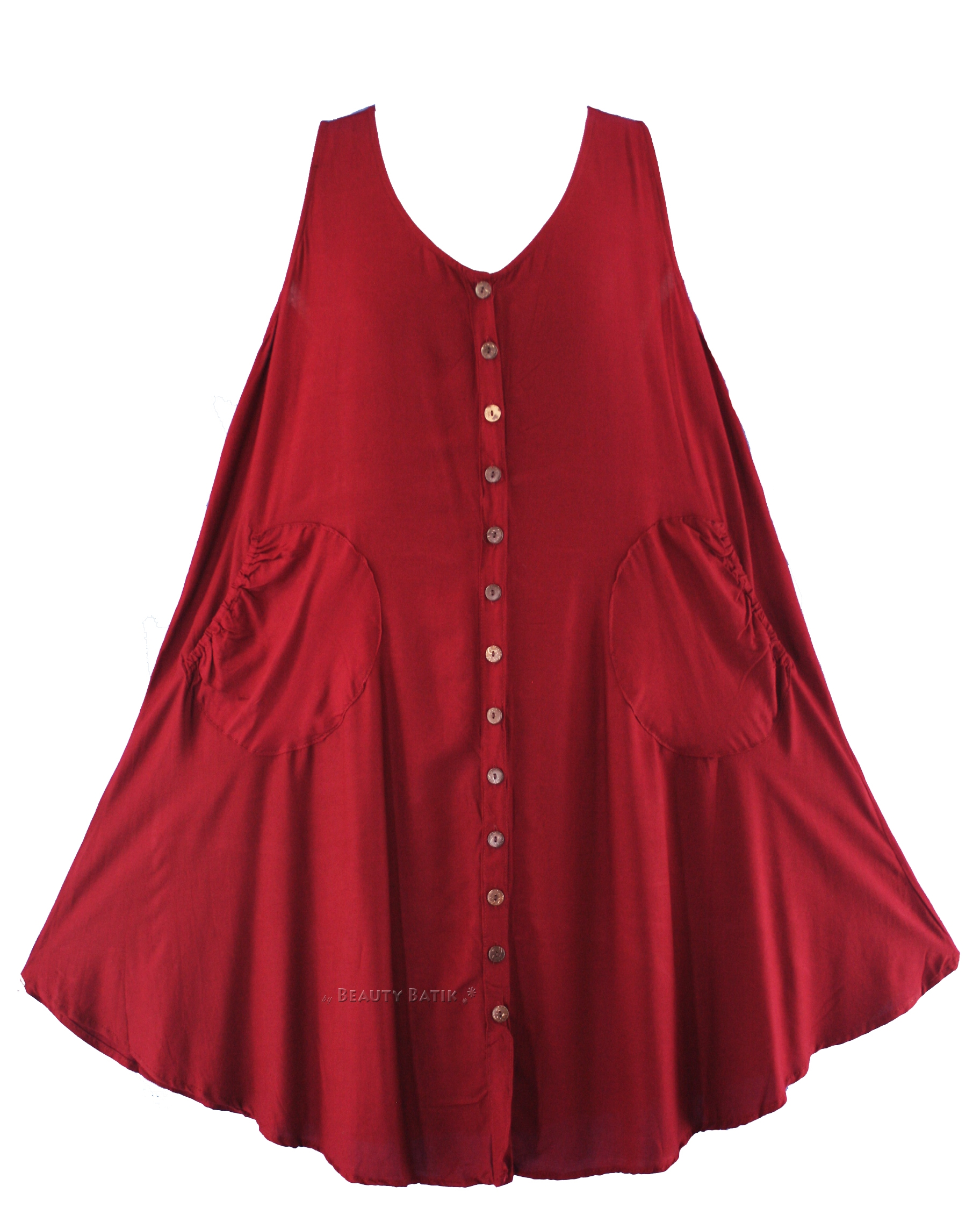 Women Lagenlook Plus Size Vest Tunic Top 0X 1X 16 18