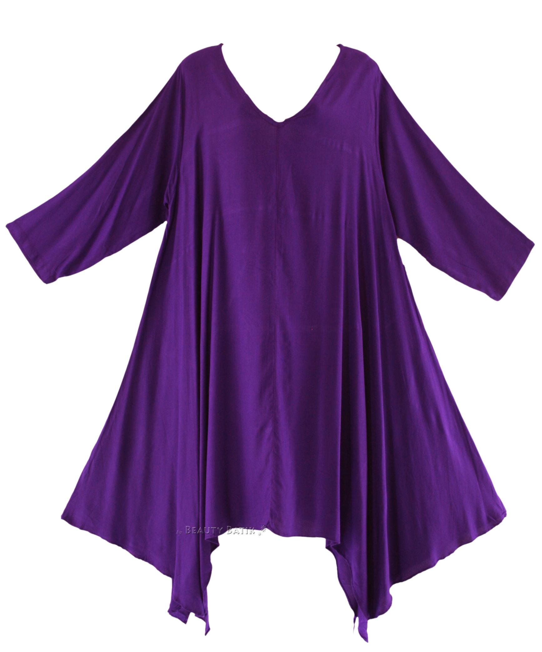 Plus Size Purple Dressy Tops - Evening Wear