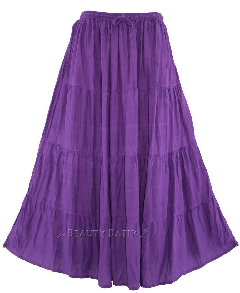 Women-BOHO-Gypsy-Long-Maxi-Tiered-Skirt-6-8-12-14-16-18-S-M-L-XL